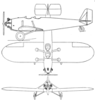 Faichild 21 3-view Aero Digest January 1929.png