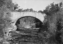 Fall Creek Stone Arch Bridge w 1936 roku