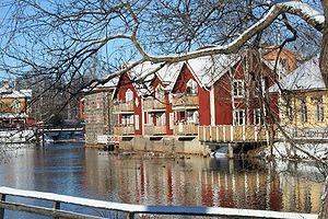 Falu River - Image: Faluån på vintern