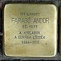 Faragó Andor stolperstein (Budapest-11 Bartók Béla út 52).jpg