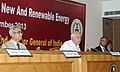 Farooq Abdullah addressing at the inauguration of the Stakeholders Workshops on New and Renewable Energy, in New Delhi on September 24, 2013. The Comptroller and Auditor General, Shri Shashi Kant Sharma is also seen.jpg