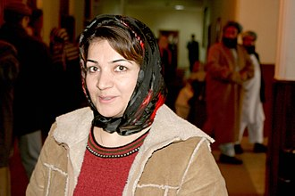 Politics of Afghanistan - Fauzia Gailani, one of several female parliamentarians of Afghanistan.