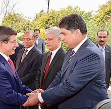 Fawad with Former PM of Turkey Ahmet Davutoğlu.jpg