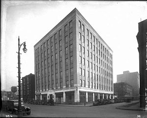 Film Exchange Building - Photograph of the building in its original state.