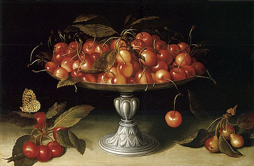Fede Galizia - Cherries in a silver compote with crabapples