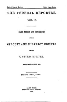 Federal Reporter, 1st Series, Volume 10.djvu