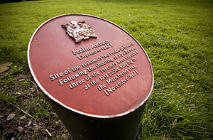 Manchester Martyrs - A commemoration plaque at the site of the incident
