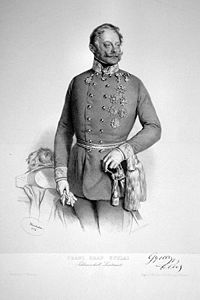Il Feldmaresciallo Ferencz Gyulai in una litografia del 1850