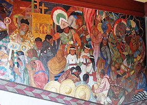 Fernando Leal (artist) - Los danzantes de Chalma at the College of San Ildefonso