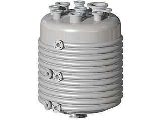 Jacketed vessel container designed for controlling the temperature of its contents