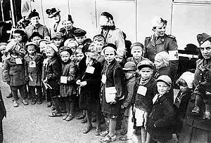 Finnish war children - Finnish war children in Turku, 1939.