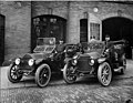 Fire Department vehicles and officials, ca 1912 (SEATTLE 1243).jpg