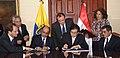 Firma de convenios entre Ecuador y Egipto. Canciller Falconí y Asistente de la Cancillería Egipcia para las Américas, Hisham El-Zimaity suscriben (4173993181).jpg