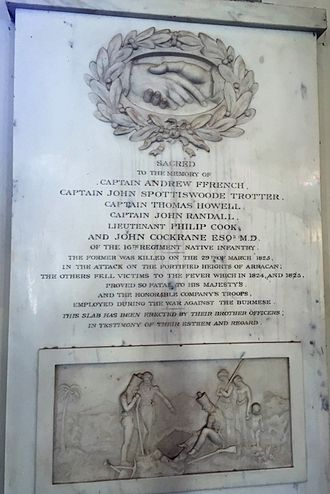 First Anglo-Burmese War - First Burma War Memorial at the St. George's Cathedral, Madras