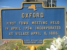 Oxford, NY, first town meeting April 1794.