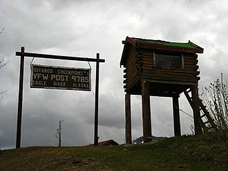 Eagle River, Anchorage - VFW Post 9785, located near the middle Glenn Highway interchange, serves as the first checkpoint for the Iditarod Trail Sled Dog Race.