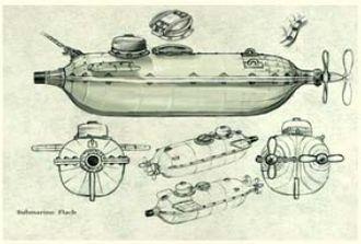 Flach (submarine) - Image: Flach, plano original