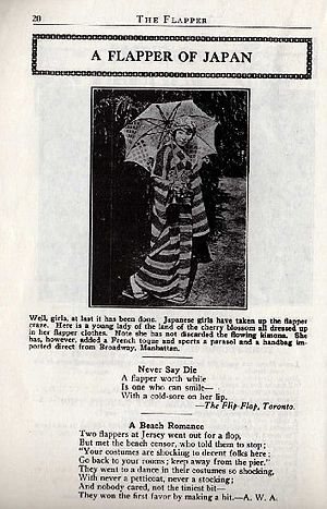 """Page from magazine """"The Flapper"""" for..."""