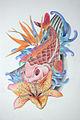 Flash de tatuaje japones de un pez carpa o koi.jpg