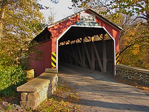 Fleisher Covered Bridge - Fleisher Covered Bridge, October 2010