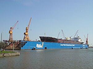Lloyd Werft - the floating dock Schwimmdock III