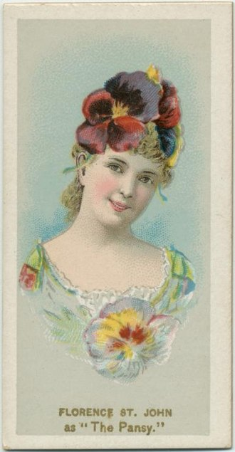 Florence St. John - St. John on a cigarette card, 1889
