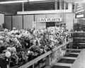 Florist department -flowers on display at Clark's, a grocery, drug, sundries, and department store and lunch counter, 3900 North Independence Boulevard, Charlotte, NC, c.1962 or 1963. From the General (6876071431).jpg