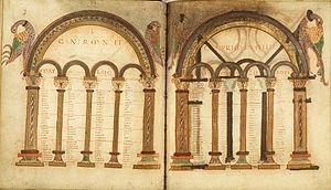 Eusebius - Eusebius's canon tables were often included in Early Medieval Gospel books