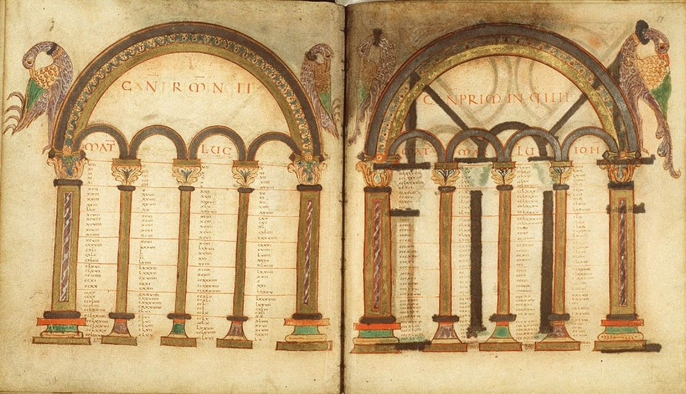 Fol. 10v-11r Egmond Gospels