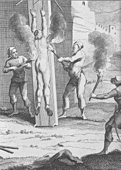 Folter mit Feuer 18 Jhd