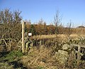 Footpath sign and stile - geograph.org.uk - 327283.jpg
