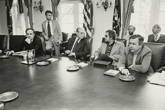 Stuart Spencer (political consultant) - Spencer with Gerald Ford and Dick Cheney.