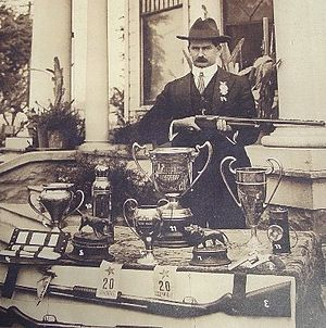 Forest McNeir - McNeir with some of his trophies.
