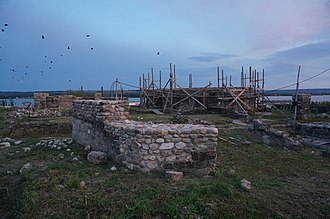 Origin of the Romanians - Ruins of Trajan's Bridge at Drobeta, Romania