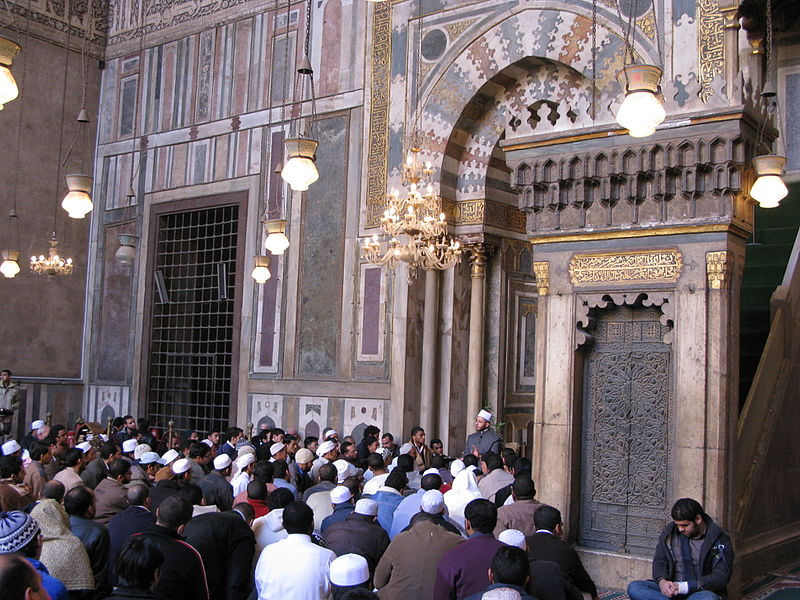 Forty hadith nawawi taught by Sheikh Usama al Azhari in Sultan Hassan Mosque.JPG