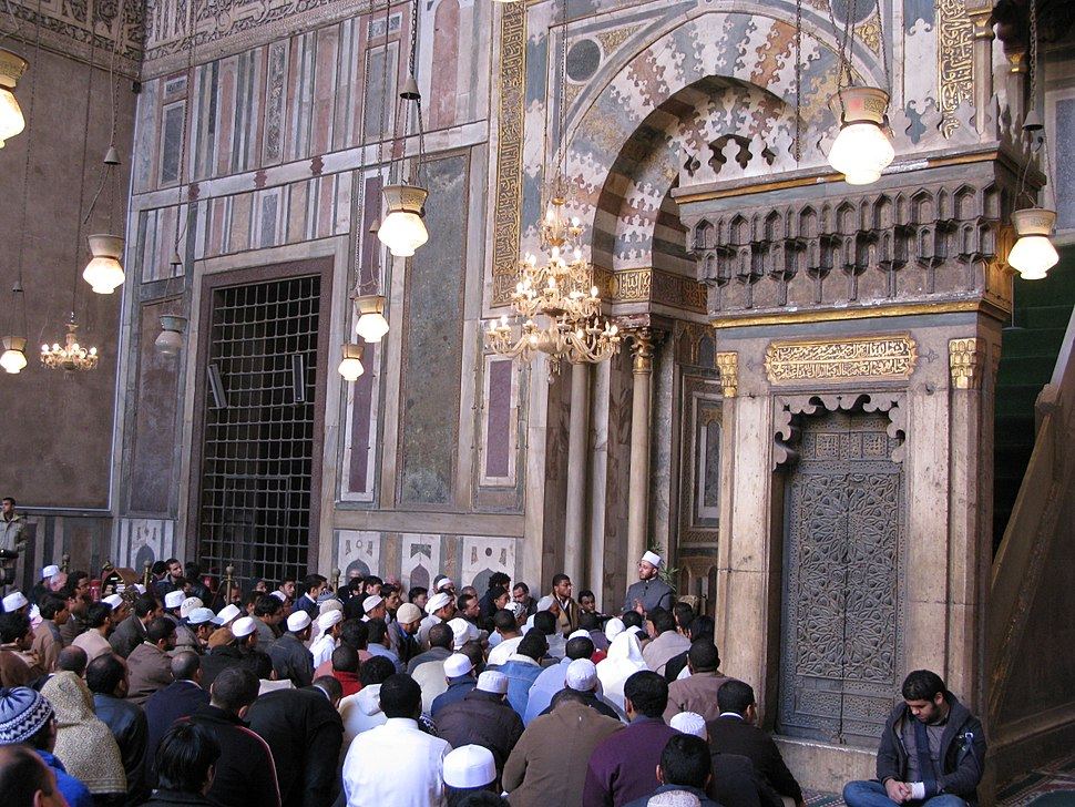 Forty hadith nawawi taught by Sheikh Usama al Azhari in Sultan Hassan Mosque
