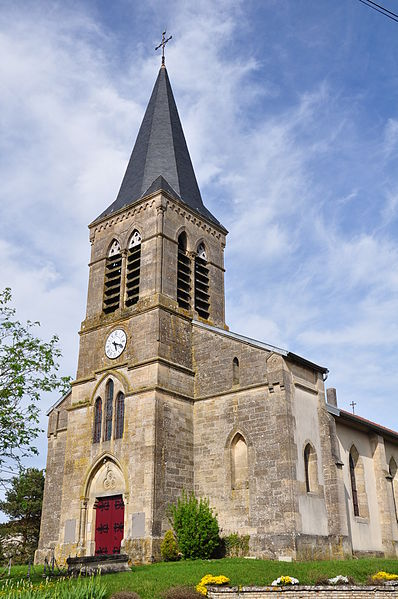 Church of Brizeaux (Canton Seuil-d'Argonne, Meuse department, Lorraine region, France).