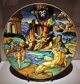 Francesco xanto avelli, piatto con metabo e camilla, dal servito dei tre crescenti, urbino 1530 ca.jpg