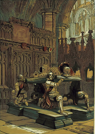 Francis Vere - Sir Francis Vere's tomb in Westminster Abbey, circa 1860