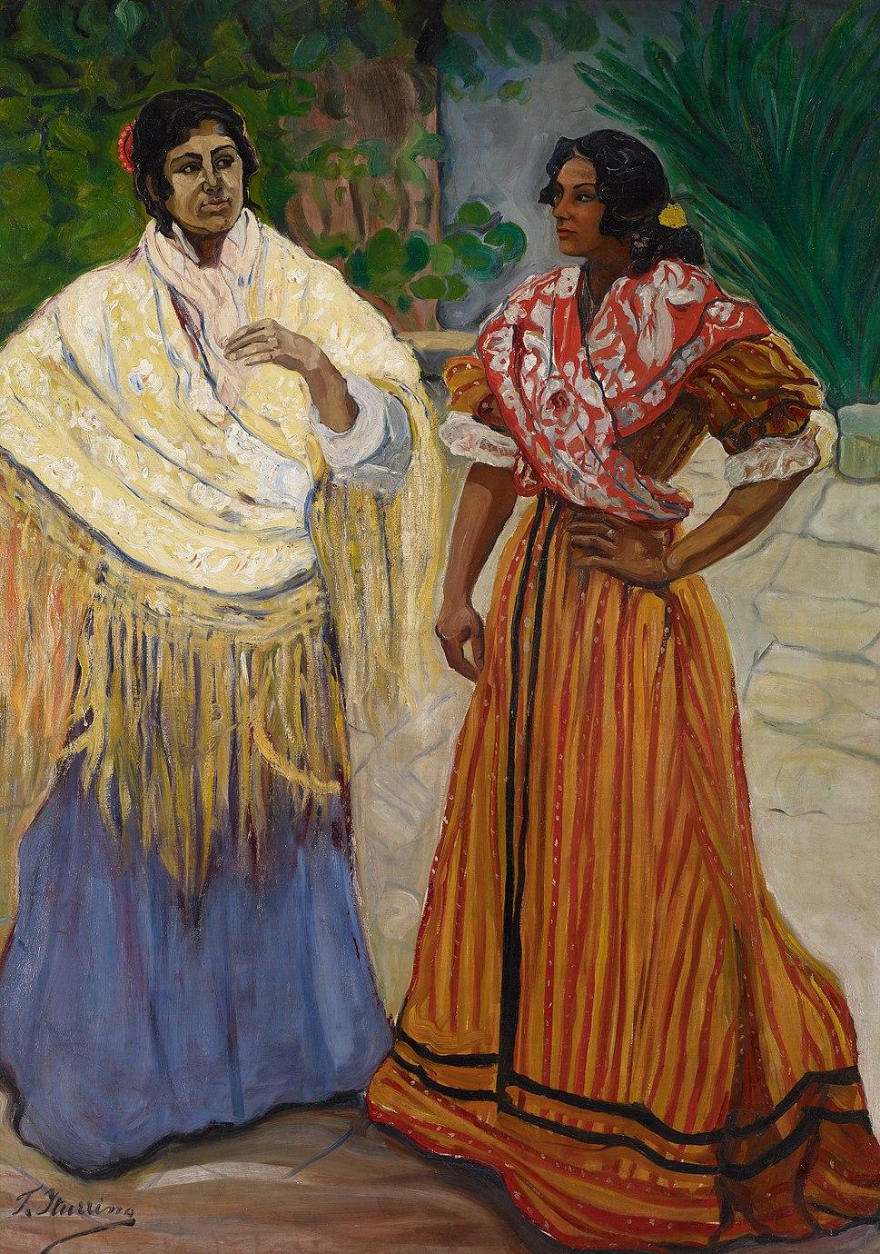 Francisco Iturrino Two Gypsies