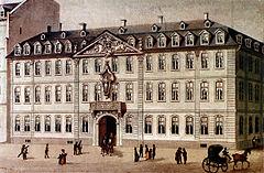 Frankfurt Am Main-Zeil-Friedrich Joseph Ehemant-Johann Heinrich Martens-Gasthaus zum Roemischen Kaiser-um 1830.jpg