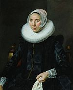 Frans Hals - portrait of a lady in diadem cap and cartwheel ruff - Art Institute of Chicago.jpg