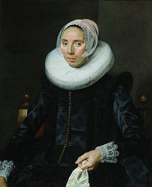 Portrait of a Woman in a Chair - Portrait of a Woman in a Chair, c. 1627, Oil on panel, 87 x 67 cm
