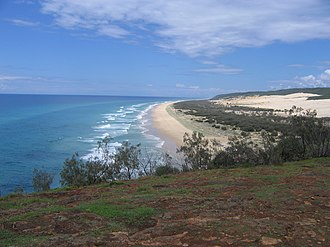 Wide Bay–Burnett - Fraser Island is the world's largest sand island