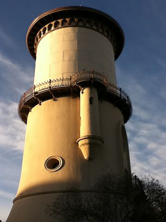 Fresno, California - One of the earliest buildings in Fresno, the Fresno Water Tower.