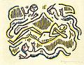 Fritz Baumann Jüngling mit drei Schlangen 1914.jpg