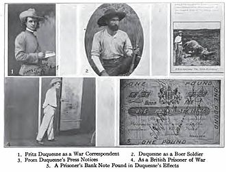 Fritz Joubert Duquesne - Pictures of Duquesne found at his home in New York after his arrest in 1917.