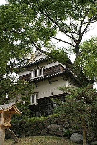 Kuroda clan - Corner tower of Fukuoka castle, residence of the Kuroda main clan during the Edo period.