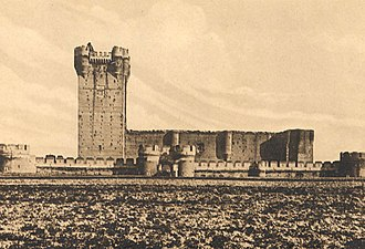 Castle of La Mota - Old photo of the Keep.