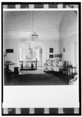 GENERAL INTERIOR VIEW OF THIRD-FLOOR PARLOR, LOOKING TOWARDS REAR FROM THE NORTHEAST - Markoe House, 16B Church Street, Christiansted, St. Croix, VI HABS VI,1-CHRIS,25-3.tif